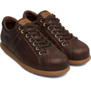 Camper Mens Pelotas Ariel 17408-086 Mens Brown Leather Shoes Trainers Size 7-12