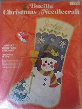 BUCILLA felt christmas snowman stocking kit