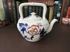 Antique 18th/19th c   Flow Blue Teapot