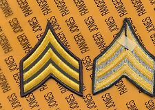 US Army Enlisted Sergeant Stripes E-5 Class A modern era patch set NOS m/e