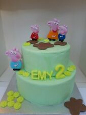 Edible Pig family of four Personalised Edible Cake Topper