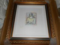 PETER MAX  MONA LISA  (DOVE & ANGEL-W-HEART) FRAMED NUMBERED HAND-SIGNED ETCHING