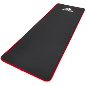 Adidas Training Mat Versatile Cushioned Exercise Yoga Mat with Carry Strap, Red