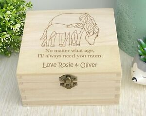 Always Need You Mum Memory Box Mother's Day Gift Horse Cute Personalised Trinket