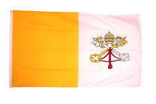 Vatican City Flag - 5 x 3 FT - Roman Catholic Religious Church Rome Pope Papal