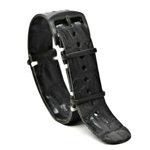 Leather watch Strap,Military Army Band,for Omega,Handmade 18/20/22/24mm Gift Man