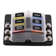 Car Van Boat Circuit Standard 6 Way Blade Fuse Box Block Holder With LED Light