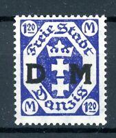 Freie Stadt Danzig Dienst MiNr. 12 F postfrisch MNH geprüft Gruber (XXX