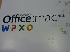 MICROSOFT OFFICE FOR MAC 2011 HOME & BUSINESS 1 USER - WITH KEY & DVD