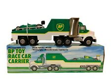 Vintage 1993 BP: Toy Race Car Carrier Truck Trailer - Limited Edition Series