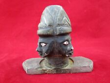 Old Vintage Hand Crafted Brown Stone Hindu God Charbhuja Nath Shivling Statue