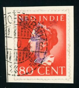 Japanese Occupation: West-Borneo cancel POETOESSIBAU 1944  + Anchor overprint