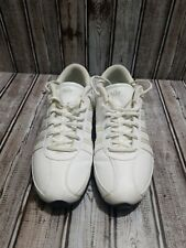 Nike White Leather Non Marking Running Tennis Comfort Shoes Sz.10