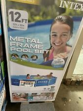 """Intex 12' x 30"""" Metal Frame Above Ground Pool with Filter Pump (Open Box)"""