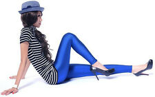 Women Glossy Skiny Metallic Shine Dance Stretchy Leggings Pants