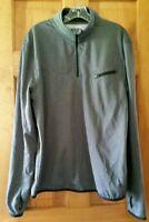 FILA Sport Men's Gray Long Sleeve Mock Neck Quarter Zip Pullover Top L Thumbhole