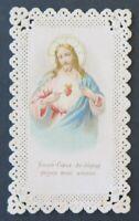 CANIVET Sacré-Cœur de Jésus Image Pieuse HOLY CARD 19thC Santino 7
