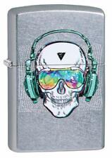 Zippo Skull Headphone Street Chrome Windproof Lighter