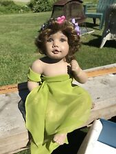 Stunning Pansy By Sandra Babin Masterpiece Gallery Doll In Green, LE 69/1000