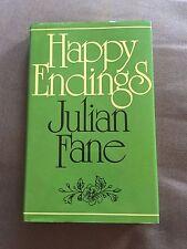"1979 1ST EDITION ""HAPPY ENDINGS"" JULIAN FANE FICTION HARDBACK BOOK"