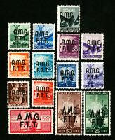 Trieste Stamps # 1-14 VF OG Hinged
