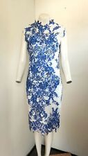 Stunning Royal Blue & White Lace Style Dress from Paperdolls ~ Size 10 ~ NEW!