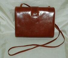 Georgetown Leather Design Tan Brown Box Hand Bag Purse Pocketbook Korea Shoulder