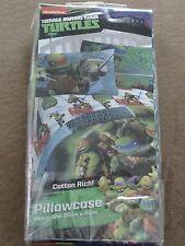 "Teenage Mutant Ninja Turtles Cotton Rich Standard Pillowcase-20"" X 30""-New"