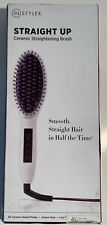 InStyler Straight Up Ceramic Hair Straightening Brush With Instant Heat H1