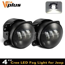Super Bright LED Fog Driving DRL Light Fit 07~14 Jeep Wrangler JK 4 inch Pair