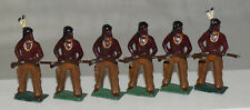 Set of 6 Native American Indian Toy Soldiers - Solid Cast Metal