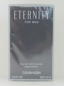 Eternity Cologne Perfume by Calvin Klein 3.3 oz 100 ml EDT Spray Men New Sealed