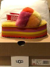 UGG Disco Checker Slide Pride Rainbow Yellow Slipper Women's US sizes 5-11/NEW!!