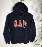 Gap Boy's Hooded Fleece Sweatshirt Jacket Jumper Full Zip 10-11 Years Old Blue