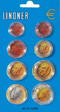 Lindner Münzkapseldisplay für einen Euro-Kursmünzensatz - NEU -
