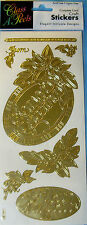 NEW POINTSETTIA FRAME Gold Christmas CLASS A' Peels Complete Card Craft Stickers