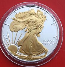 USA-Amerika: 1 Dollar Silver Eagle 2006, #F1770, Walking Liberty gold gilded