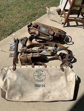 klein lineman Set, belt, tools, bag, leg spikes, Pole Belt Great Condition