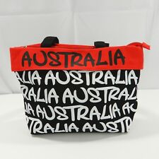 Robin Ruth Canvas Handbag Purse Australia Black White Red Lined Medium