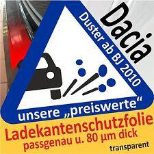 für Dacia Duster Ladekantenschutz Folie Lackschutzfolie Schutzfolie 80µm