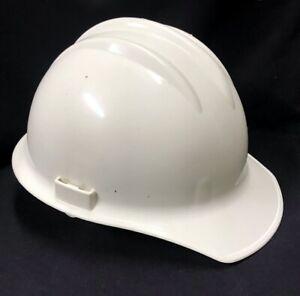 Vintage E.D. Bullard Hard Boiled Plastic Hard Hat Model 3000 White