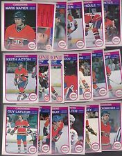 1982 - 83 OPC Team SET Lot of 19 Montreal CANADIENS NM+ o-pee-chee LAFLEUR SHUTT