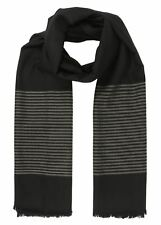 Twill Merino Handwoven Oversize Scarf with Stripes Design