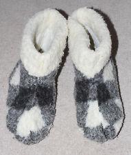 Women's / Men's Sheep Fleece Wool Leather House Slippers Sheepskin Worn UK 11
