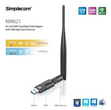 Simplecom AC1200 WiFi Dual Band USB Adapter with 5dBi High Gain Antenna (NW621)