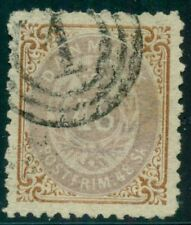 DENMARK #24b (27v1), 48sk bicolor, used w/INVERTED FRAME, Jensen certificate,