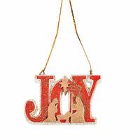 """Joy"" Nativity Ornaments - Home Decor - 12 Pieces"