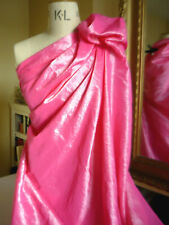 REMNANT 1.1m x 1.4m PINK Crinkle TAFFETA Best Designer Quality FABRIC Dress Hat
