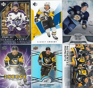 SIDNEY CROSBY  a lot of 6 DIFFERENTS CARDS INSERTS see scan  LOT 44      a
