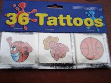 Basketball Tattoos Lot 0F 144 Carnivals, Parties Toys Favors. Vending